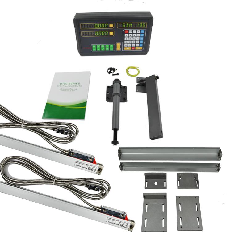 [해외]포장 판매 2Axis Dro 디지털 판독기 상자 + 선반 기계 / 밀링 머신에 대 한 0-1500 mm 선형 인코더 / 광학 규모/Packing sale  2Axis Dro Digital Readout Box +2pcs 0-1500mm Linear Encoder