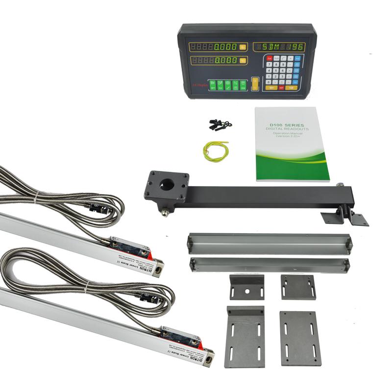 [해외]2Pcs 선형 스케일 / 광학 인코더 0-1000mm + 2 축 디지털 판독 디스플레이/2Pcs Linear Scale /Optical Encoder 0-1000mm + 2 Axis Digital readout Display