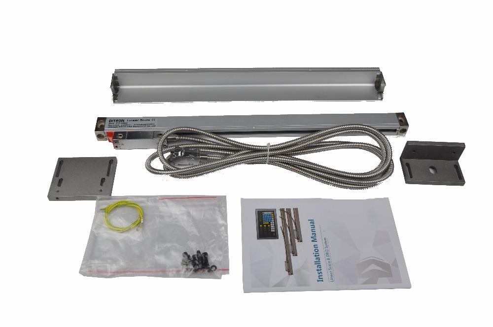 [해외]리니어 스케일 (0-300mm) 선반 기계 / 밀링 머신 용 9 핀 TTL / RS422/Linear Scale (0-300mm) 9-PIN TTL /RS422 for Lathe Machine /Milling Machine