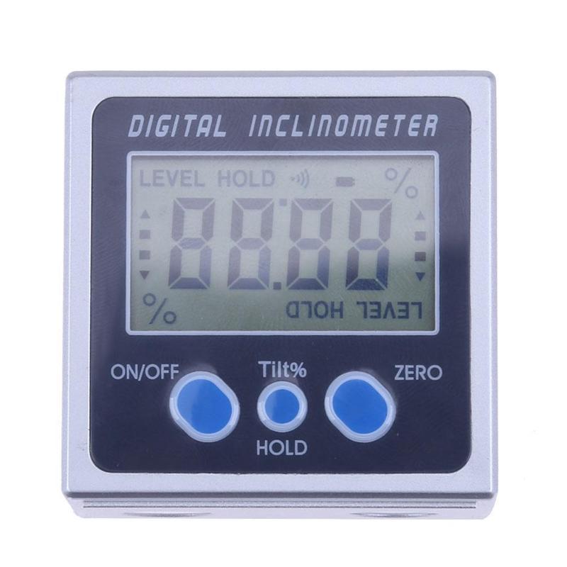 [해외]4 x 90 전자 고니 오 미터 전자 각도기 디지털 경사계 레벨 박스 자기 레벨 측정 도구 각도 측정기/4 x 90 Electron Goniometers Electronic Protractor Digital Inclinometer Level Box Magneti