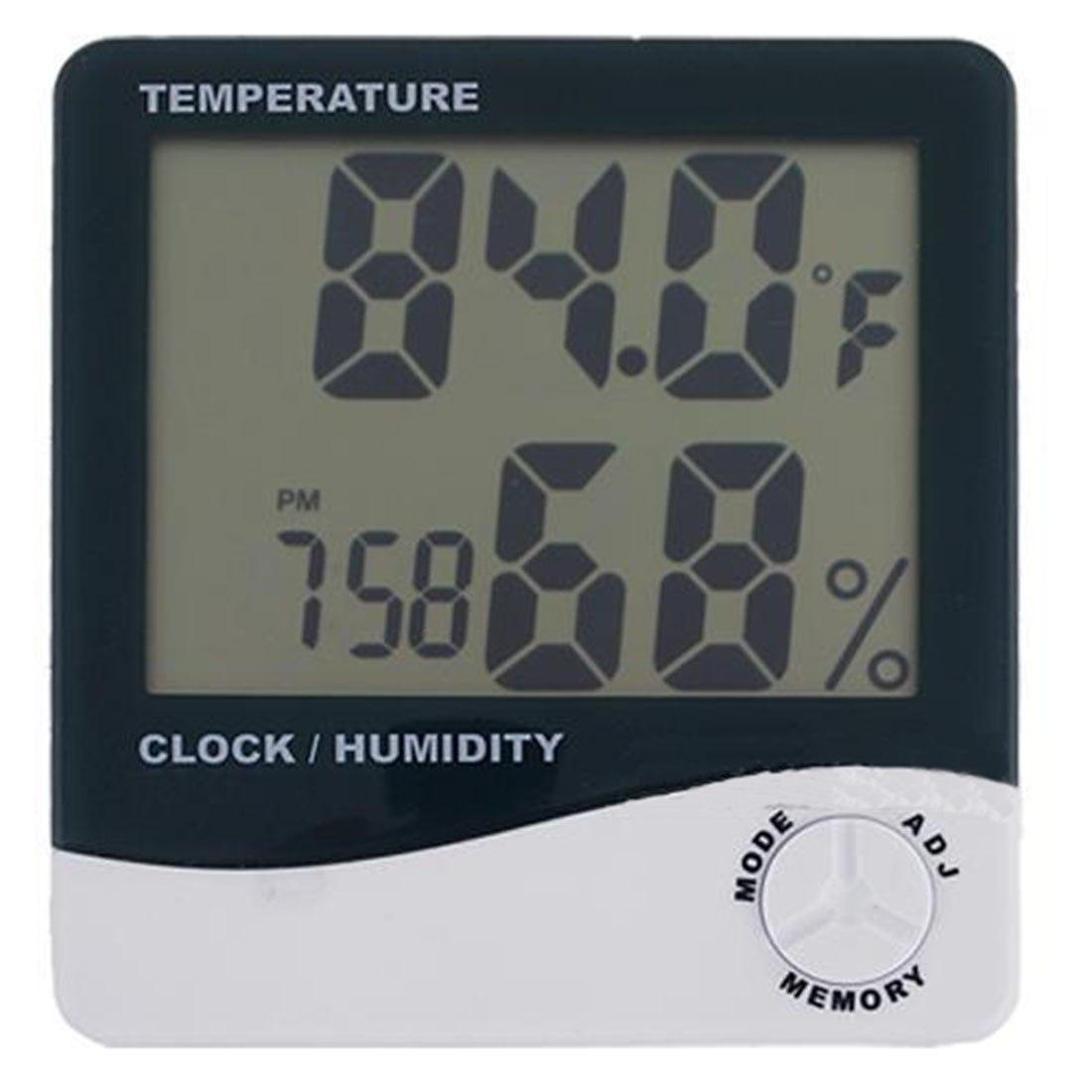 [해외]새로운 날씨 역 디지털 LCD 온도계 습도계 온도 습도계 게이지 시계 알람/New Weather Station Digital LCD Thermometer Hygrometer Temperature Humidity Meter Gauge Clock Alarm Whol