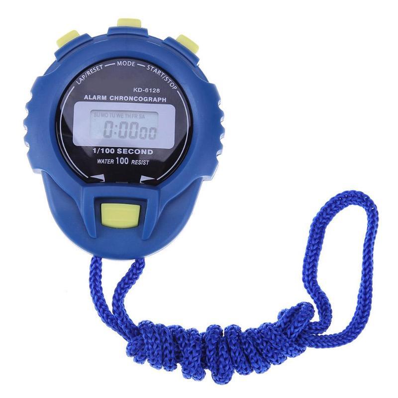 [해외]2018 새로운 LCD 크로노 그래프 디지털 타이머 스톱워치 스포츠 카운터 주행 시계 시계 알람 선수 타이머 ABS 셸/2018 New LCD Chronograph Digital Timer Stopwatch Sport Counter Odometer Watch A