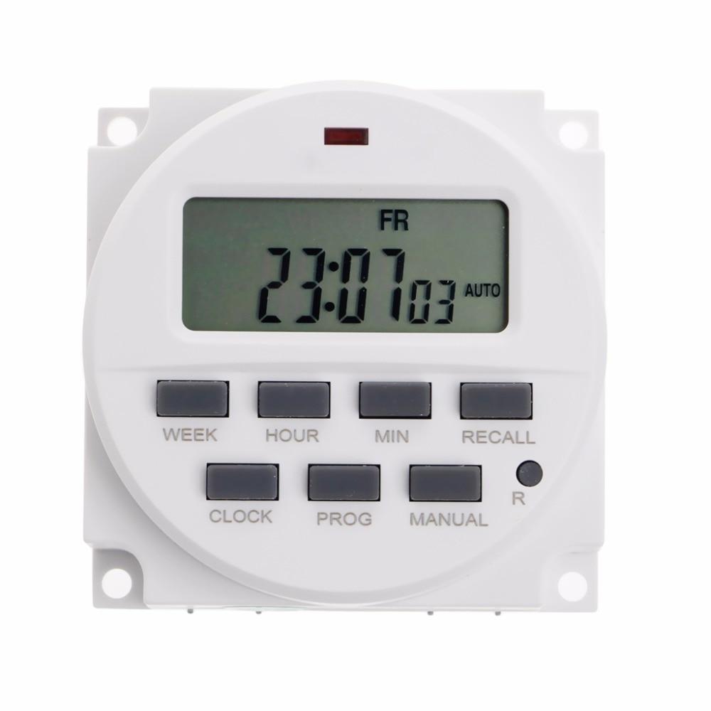 [해외]15.98 인치 LCD 디지털 타이머 220V AC 7 일 프로그래머블 타임 스위치 TM618N-2 디지트 타이머 스위치/15.98 Inch LCD Digital Timer 220V AC 7 Days Programmable Time Switch TM618N-2
