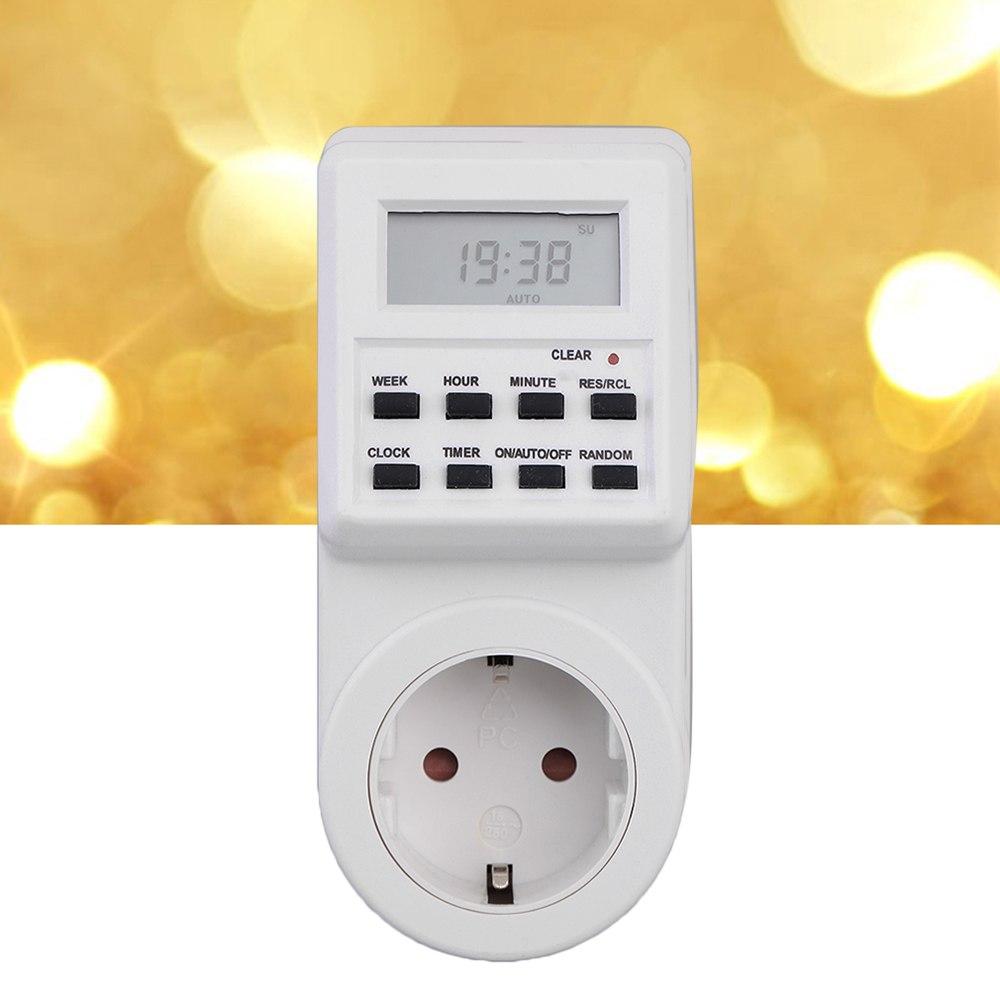 [해외]플러그인 프로그램 가능한 타이머 스위치 SocketClock 섬머 타임 다기능 테스터시 분 분주 무작위 기능/Plug-in Programmable Timer Switch SocketClock Summer Time Multi Function tester  hour