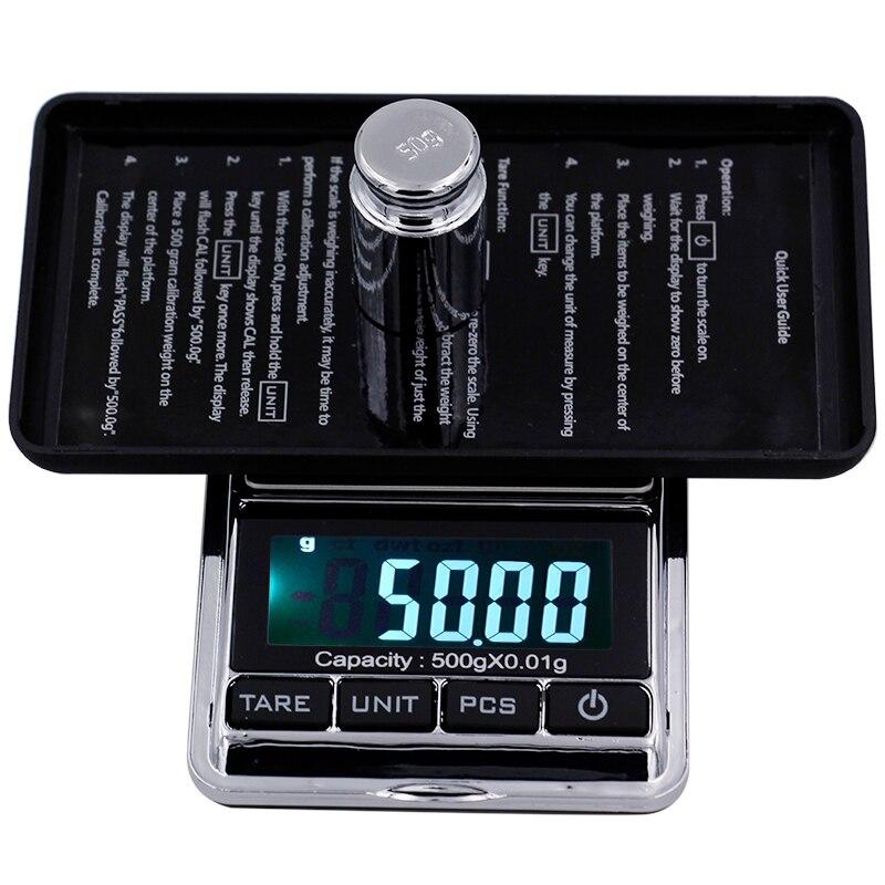 [해외]500gx0.01g 전자 저울 소형 정밀도 휴대용 소형 LCD 디지털 방식으로 보석 저울 무게 균형 부엌 그램 ??가늠자/500gx0.01g Electronic Scale Mini Precision Portable Pocket LCD Digital Jewelry