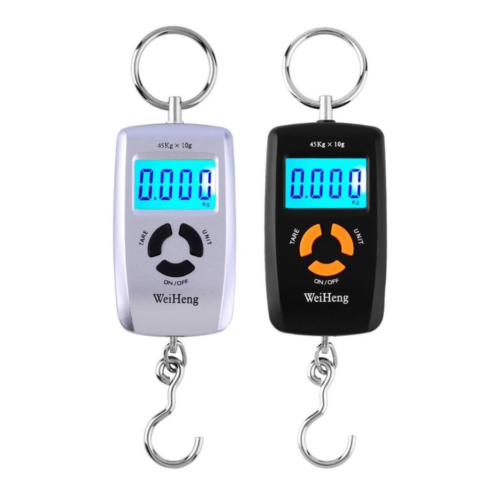 [해외]WH-A05L LCD 휴대용 디지털 전자 저울 포켓 45kg / 10g 수하물 낚시 걸이 저울 저울 전자 lb 온스 kg/WH-A05L LCD Portable Digital Electronic Scale Pocket 45kg/10g Luggage Hanging