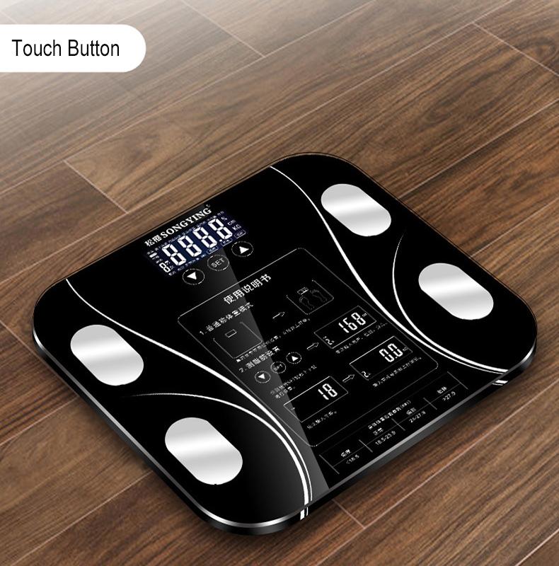 [해외]핫 13 바디 데이터 전자 저울 저울 스마트 욕실 체지방 bmi 스케일 디지털 인간 무게 미 스케일 LCD 디스플레이 단련/Hot 13 Body Data Electronic Weighing Scales Smart Bathroom Body Fat bmi Scale