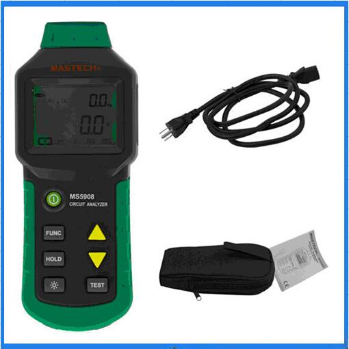 [해외]회로 분석기 Mastech TRMS AC 낮은 전압 분배 라인 오류 테스터 RCD GFCI 소켓 테스트 MS5908 / MS5908B MASTECH/Circuit Analyzer Mastech TRMS AC Low Voltage Distribution Line