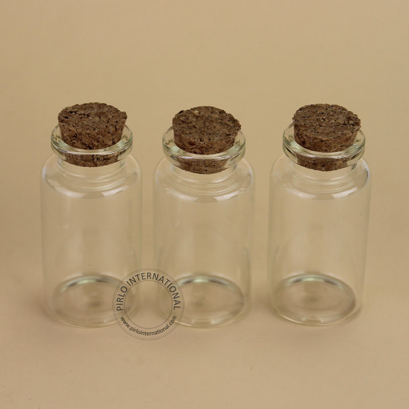 [해외]상자 리필 용기 작은 냄비를 기원 100PCS / 많은 25 ㎖ 유리 코르크 병 빈 샘플 유리 병 홈 인테리어/100pcs/Lot Wholesale 25ml Glass Cork Bottle Empty Sample Vial Home Decoration Wishin