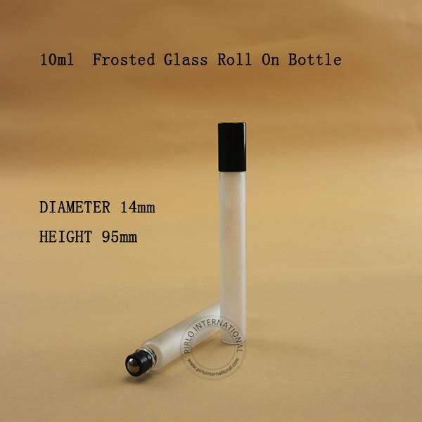 [해외]병 에센셜 오일 젖 향수 리필 용기 포장 작은 상자에 100PCS / LOT 유리 10ml의 빈 롤/100pcs/LOT Wholesale Glass 10ml Empty Roll on Bottle Essential Oil Frosted Perfume Contain