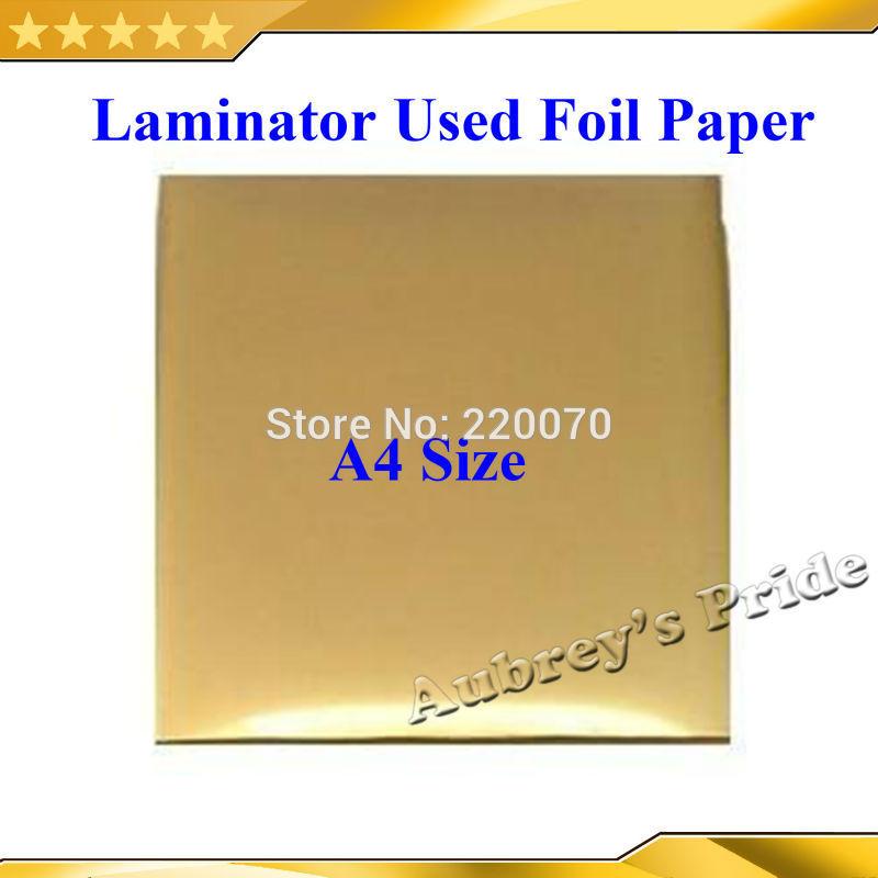[해외]100 PC를 20x29Cm A4 크기 우아함 문서 인쇄 레이저 프린터에 핫 포일 종이 라미네이터 코팅 타입 옮겨진/100 Pcs 20x29Cm A4 Size Hot Foil Paper Laminator Laminating Type Transfered on El
