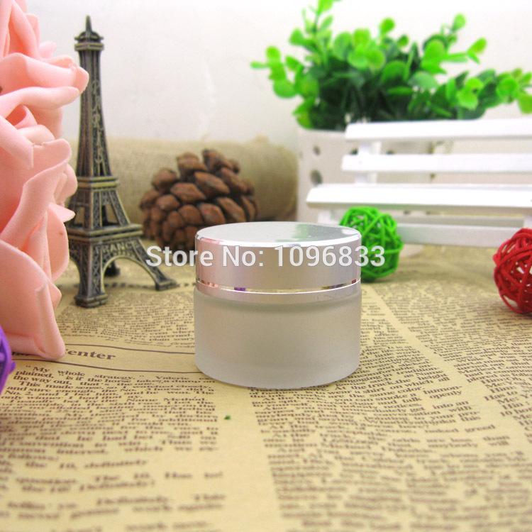 [해외]15G 15ML 프로스트 유리 JarMatte 실버 캡, 화장품 크림 포장 항아리, 컨테이너 포장 유리, 크림 샘플 항아리, 40pc / 많은/15G 15ML Frost Glass JarMatte Silver Cap, Cosmetic Cream Packing J