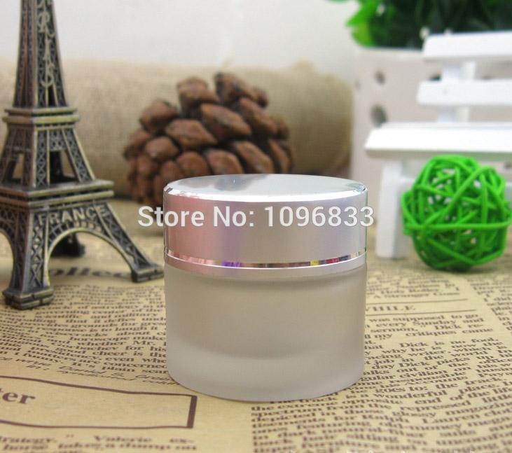 [해외]10G 매트 실버 캡 프로스트 유리 항아리, 10ML 유리 용기, 화장품 항아리, 화장품 포장 용기, 크림 항아리, 40PCS / 많은/10G Matte Silver Cap Frost Glass Jar, 10ML Glass Container, Cosmetic J