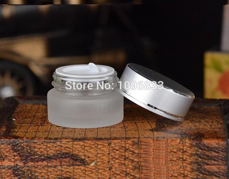 [해외]5G 프로스트 유리 항아리, 실버 캡 항아리, 유리 크림 항아리, 빈 화장품 항아리, 화장품 포장 용기, 크림 샘플 항아리, 50PCS / 많은/5G Frost Glass Jar, Silver Cap Jar, Glass Cream Jar, Empty Cosmet