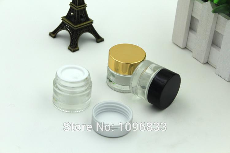[해외]10G 유리 항아리 블랙 뚜껑, 10g 유리 크림 항아리, 10ml의 빈 투명 유리 항아리, 화장품 포장 용기, 크림 샘플 항아리, 40pc / 많은/10G Glass Jar Black Lid, 10g Glass Cream Jar, 10ml Empty Clear