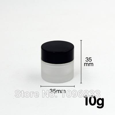 [해외]10G 프로스트 유리 항아리 블랙 뚜껑, 10g 유리 크림 항아리, 10ml의 빈 유리 항아리, 화장품 포장 용기, 크림 샘플 항아리, 40pc / 많은/10G Frost Glass Jar Black Lid, 10g Glass Cream Jar, 10ml Emp