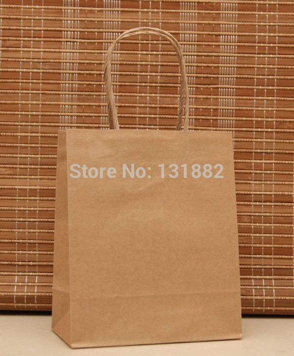[해외]40PCS / 많이 크래프트 종이 선물 BagHandles 캐리어 가방 웨딩 파티 CH-5012606/40pcs/lot Kraft Paper Gift BagHandles  Carrier Bag Wedding Party CH-5012606