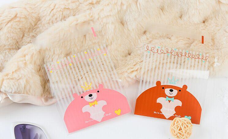 [해외]E1 크기 10x13cm 스트립 곰 쿠키 포장 크리스마스 자기 접착 선물 플라스틱 가방 100PCS를 선호 곰 / 많은/E1 Size 10x13cm Strips teddy bear cookie packaging Christmas favor self adhesiv