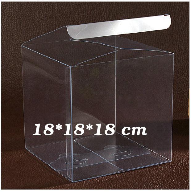 [해외]18 * 18 * 18cm 투명 클리어 PVC 상자 사탕 상자 호의, 플라스틱 사각 상자 선물 상자 100PCS / 많이 부탁/18*18*18cm Transparent Clear PVC boxes Favors for candy box,Plastic square