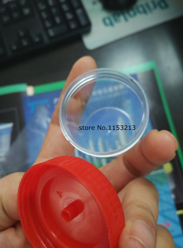 [해외]100PCS / 팩 40ml를 플라스틱 소변 컨테이너 컵 레드 / 블루 / 캡 EO-Steriledindividal 패키지/100pcs/pack 40ml Plastic Urine Container Cup Red/Blue/ cap EO-Steriledindivid