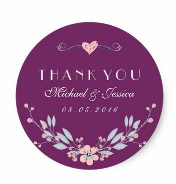 [해외]1.5 인치 보라색 빈티지 꽃 웨딩 StickerLove/1.5inch  Purple Vintage Flower Wedding StickerLove