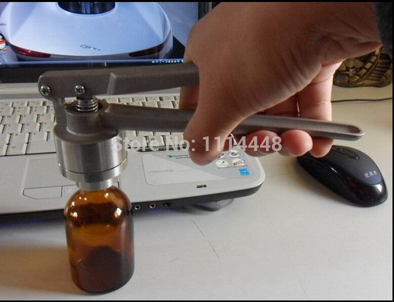 [해외]15mm 스테인레스 스틸 수동 모자를 씌우는 기계 유리 약병 크림 퍼 알루미늄 플라스틱 캡 크림 퍼 오프 플립/15mm Stainless Steel Manual Capping Machine Glass Vial Crimper Aluminum Plastic Flip