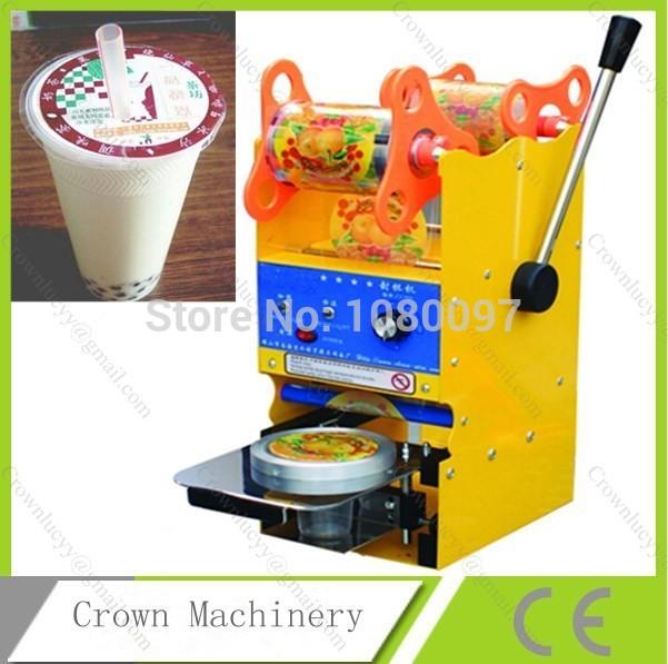 [해외]손 우유 차 컵 씰링 기계를 작동/Hand Operate Milk Tea Cup Sealing Machine