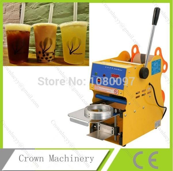 [해외]수동 컵 Sealercounter; 수동 보바 컵 씰링 기계/Manual Cup Sealercounter; Manual boba cup sealing machine