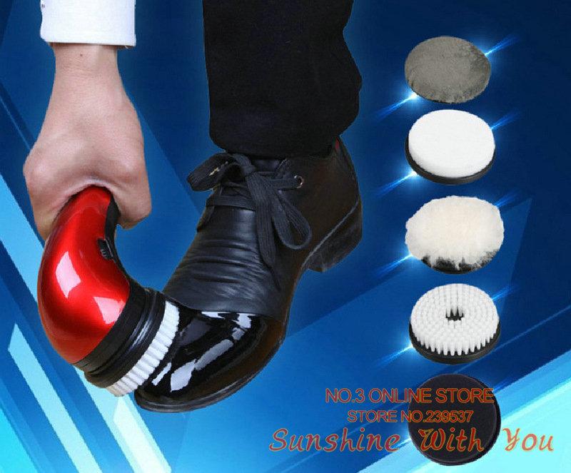 [해외]휴대용 자동 구두 광택제 청소 다기능 220V의 가정용 신발 청소기 전기 신발 브러시 손으로 쥐기 미니 가죽 신발/multifunctional 220V home use shoe cleaner electric shoe brush handhold mini  Leat