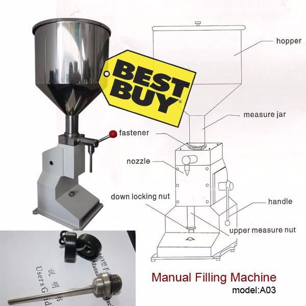 [해외]?수동 충진 Aliexpress 액체 크림 최고의 가격 용 기계 (550ml) 또는 충전 기계를 붙여/ Manual Filling Machine(550ml) for cream best price in Aliexpress liquid or paste filling