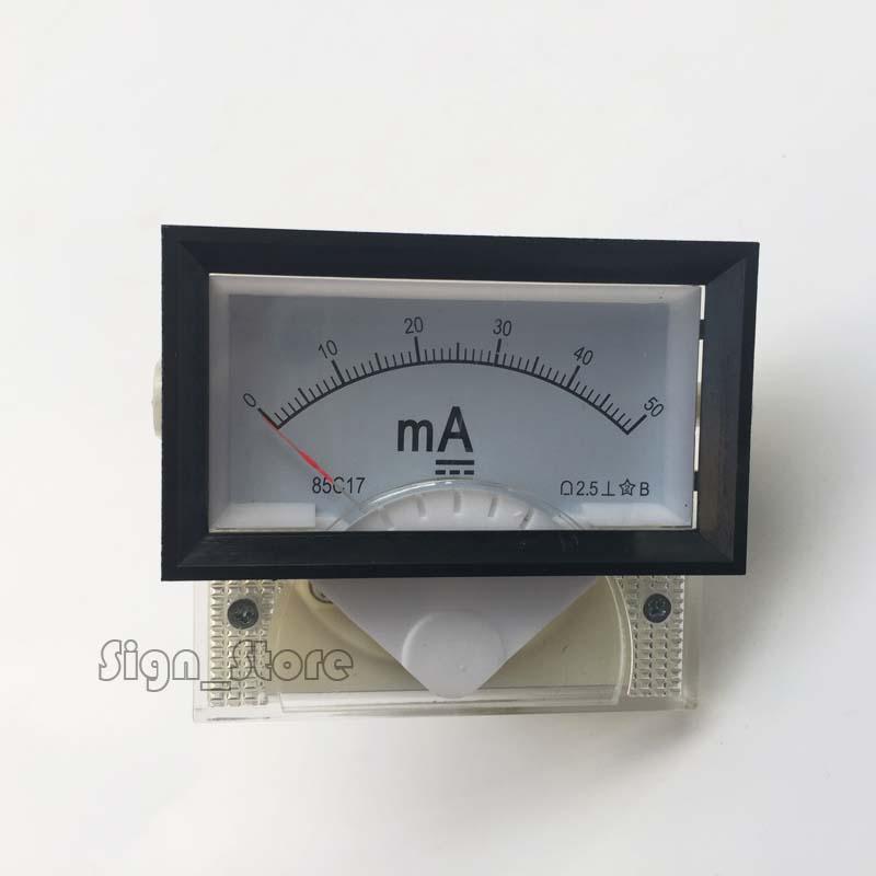 [해외]DC 전류계 50mA 85C17 50 밀리 암페어 앰프 아날로그 패널 미터 현재 전류계 이산화탄소 레이저 조각사 스탬프/DC Ampere Meter 50mA 85C17 50 milliampere Amp Analog Panel Meter Current Ammete