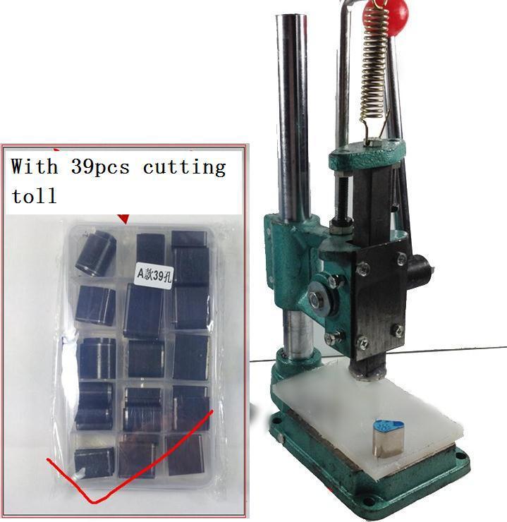 [해외]가죽 홀 펀치 커터 지갑 Shose 가방 Leathercraft 모양 Machine39pcs 절삭 공구 DIY 절단/Leather Hole Punch Cutter Cutting Machine39pcs cutting tool DIY Shaped Leathercra