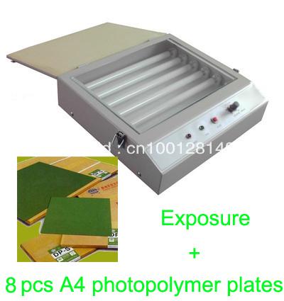 [해외]핫 포일 패드 인쇄 기판 8 개 A4의 포토 폴리머 플레이트 빠른  후드 품질 자외선 노출 단위/FAST FREE shipping hood quality UV Exposure Unit for Hot Foil Pad Printing PCB + 8 pcs A4 ph