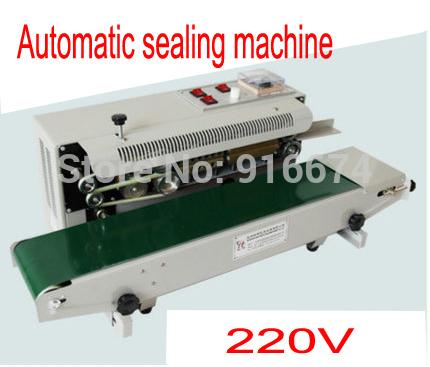[해외] 220V 연속 비닐 봉지 필름 열 밴드 씰링 기계 FR-900 스틸 휠 인쇄, 씰링 폭 : 6-12MM/Free shipping 220V Continuous Plastic Bag Film Heat Band Sealing Machine FR-900 Steel W