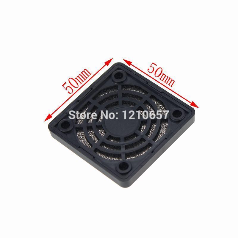 [해외]5 조각 로트 가드 블랙 플라스틱 방진 필터 50mm 컴퓨터 팬 필터