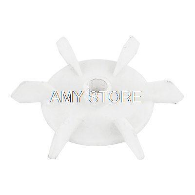 [해외]기계 부품 흰색 플라스틱 12mm 내부 직경. 6 블레이드 임펠러 모터 팬/Machine Part White Plastic 12mm Inner Dia. 6 Blades Impeller Motor Fan