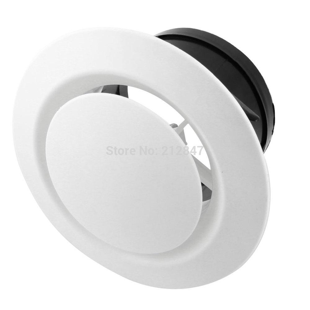 [해외]100mm 장착 디아 조정 디스크 유형 원형 에어 벤트 출구 환기 그릴 커버 플랜지/100mm Mounting Dia Adjustable Disc Type Round Air Vent Outlet Ventilation Grill Cover Flange