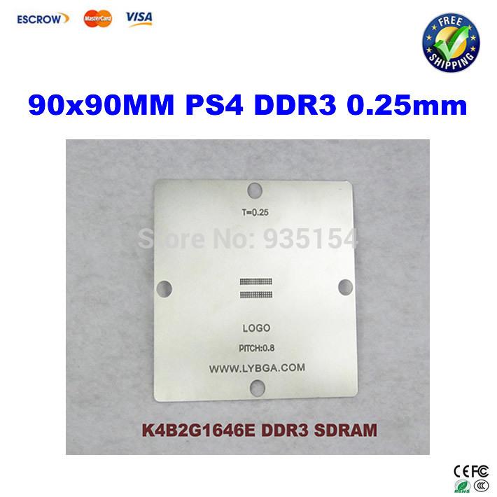 [해외]??90X 90mm PS4 스텐실 K4B2G1646E의 DDR3 SDRAM의 0.25, BGA의 reballing에 대한 피치 0.8mm의/  90x 90mm PS4 Stencil K4B2G1646E DDR3 SDRAM 0.25mm, pitch 0.8mm for
