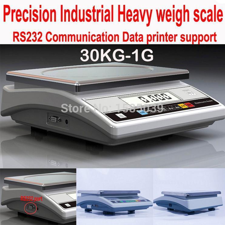 [해외]새로운 정밀 전자 계산 스케일 30KG X 1g 419WA RS232 인쇄 산업의 균형 디지털 주방 규모/New Precision electronic counting scale 30KG x 1g 419WA RS232 Print industrial balance