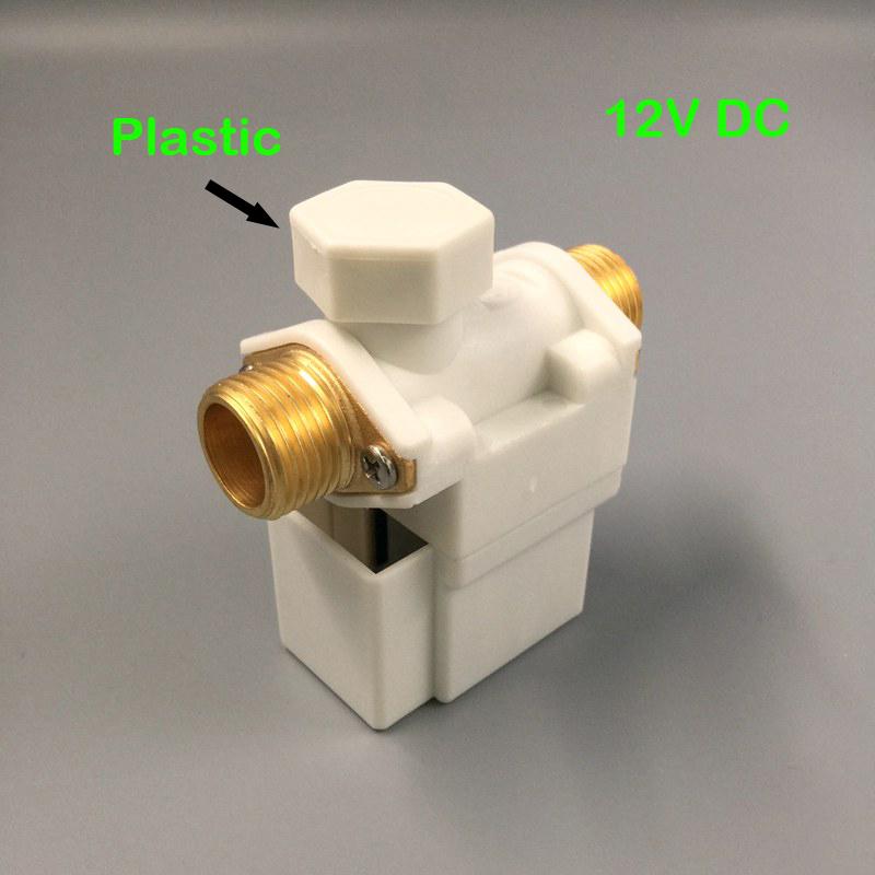 [해외]?전기 솔레노이드 밸브 공기 용 태양열 온수기 N / C 12V DC G1 / 2 및 평상시 닫힘 플라스틱 필터/ Electric Solenoid Valve For Water Air Solar System Water Heater N/C 12V DC G1/2& N