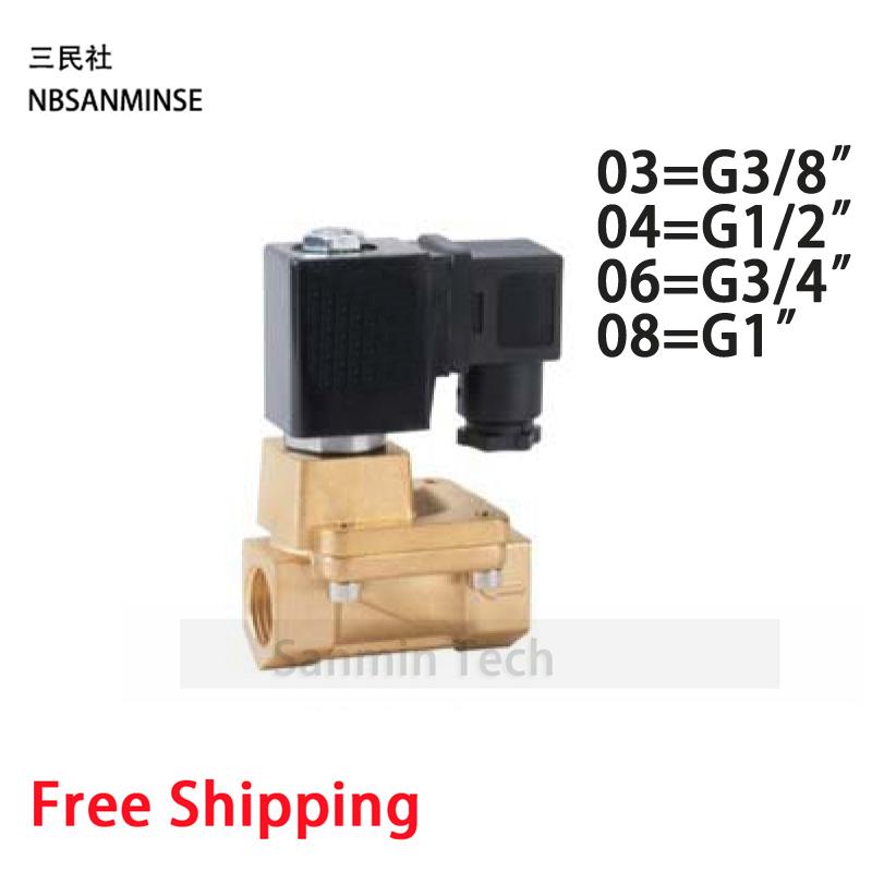 [해외]PU G 타입 전기 브래스 밸브 솔레노이드 저압 공기 물 공압 스팀 최고 Sanmin/PU G Type Electric Brass Valve Solenoid Low Pressure Air Water Pneumatic Steam On Best   Sanmin