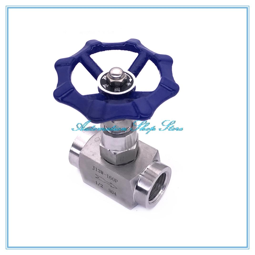 [해외]직각 니들 밸브 304 스테인리스 강 1 / 4 & 3 / 8 & 1 / 2 & 3/4 & 암나사 튜브 유압 호스 유량 제어 밸브/Right Angle needle valve 304 stainless steel 1/4& 3/8& 1/
