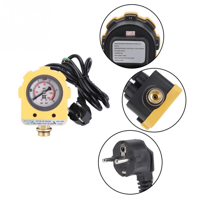 [해외]압력 제어 스위치 10 바 압력 제어기 장치 워터 펌프 용 전자 스위치 EU 플러그 220V/Pressure Control Switch 10 Bar Pressure Controller Unit Electronic Switch for Water Pump EU pl