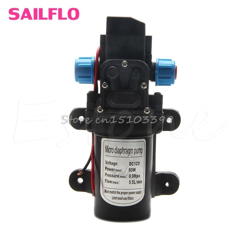 [해외]5.5L / 분 DC12V 80W 0142 모터 고압 다이어프램 워터 셀프 프라이밍 펌프/5.5L/Min DC12V 80W 0142 Motor High Pressure Diaphragm Water Self Priming Pump