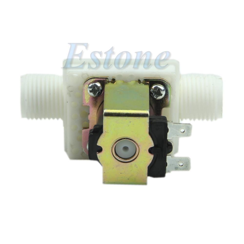 [해외]전기 솔레노이드 밸브 마그네틱 N / C 물 공기 흡입구 흐름 스위치 1 / 2 & DC 24V -Y122/Electric Solenoid Valve Magnetic N/C Water Air Inlet Flow Switch 1/2& DC 24V  -Y12