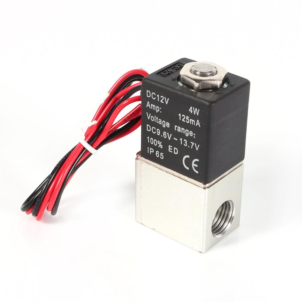 [해외]1 / 4 & 2 방향 항상 닫힘 공압 알루미늄 전기 솔레노이드 공기 밸브 12V DC/1/4& 2 Way Normally Closed Pneumatic Aluminum Electric Solenoid Air Valve 12V DC