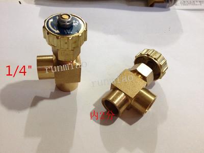 [해외]팔꿈치 황동 니들 밸브 1 / 4 & BSP 암 x 1 / 4 & BSP 암나사 최대 압력 0.8 Mpa/Elbow Brass Needle Valve 1/4& BSP Female x 1/4& BSP Female Thread Max Pressure