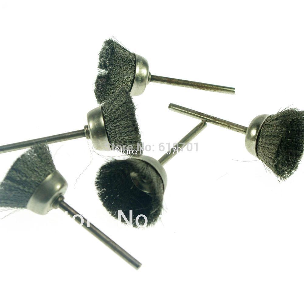 [해외]로타리 도구에 대한 5PC 그릇 모양 25mm 끝 스테인레스 스틸 와이어 브러시 3mm 심봉/5PC Bowl Shape 25mm End Stainless Steel Wire Brush 3mm mandrel For Rotary Tools