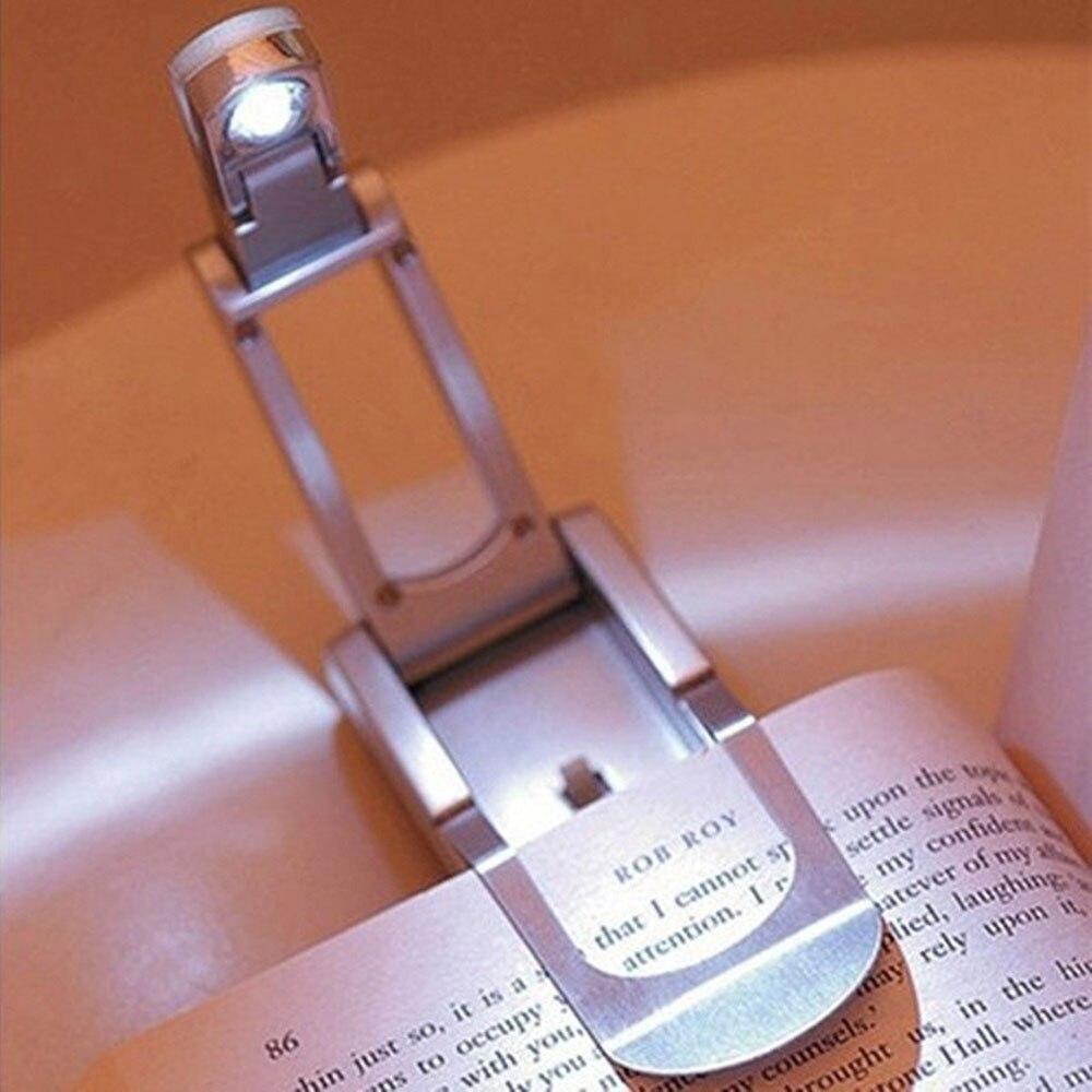 [해외]?밝은 클립 - 온 LED 읽기 독서 램프 전구 매끄러운 슬림하고 가벼운 무게 조절 독서 라이트/ Bright Clip-On LED Reading Booklight Lamp Light Bulb Sleek Slim and Light Weight Adjustable