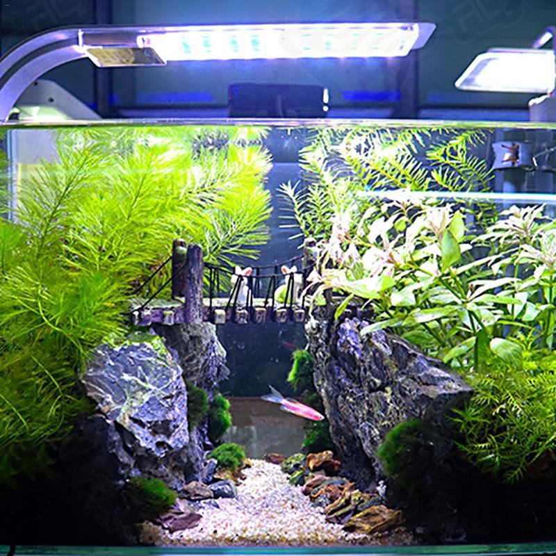 [해외]슈퍼 밝은 울트라 얇은 led 물고기 탱크 램프 수족관 조명 높이 전원 파란색 흰색 빛 방수/슈퍼 밝은 울트라 얇은 led 물고기 탱크 램프 수족관 조명 높이 전원 파란색 흰색 빛 방수